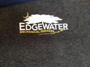 Edgewater Left chest screen printing