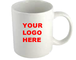 White Mug logo here