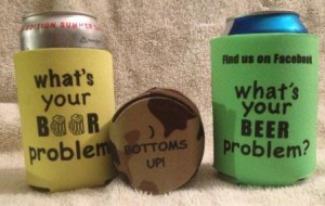 beer problem koozies