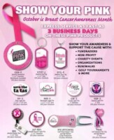 October is Breast Cancer Awareness Month                                                                                Let's Save the ta ta's!